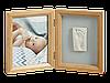 Двойная рамочка Baby Art с отпечатком ручки ножки Натуральная