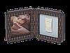 Двойная рамочка Baby Art с отпечатком медно-темно серая