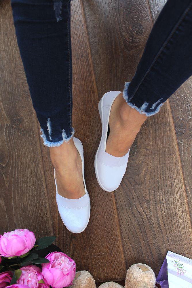 """Мокасины  """"Libang Shoes"""" (Мягкий текстиль,Белый)"""