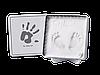 Магическая коробочка для отпечатка ладошки Baby Art квадратная бело-серая