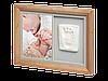 Набор для создания отпечатка ручки или ножки малыша Baby Art Настенная рамка Натуральная