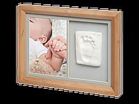 Набор для создания отпечатка ручки или ножки малыша Baby Art Настенная рамка Натуральная, фото 1