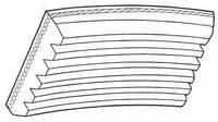 Ремень ручейковый генератора Volkswagen Caddy 1,9TDI/SDI Dayco 6PK906