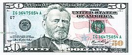 Сувенирные деньги 50 долларов (пачка 90 шт.)
