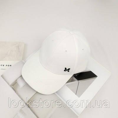 Женская кепка в стиле Maison Michel белая