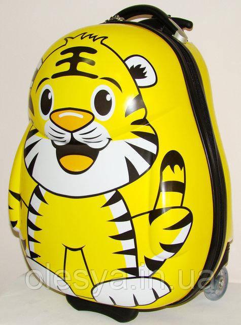 """Детский чемодан на колесиках """"Тигр"""" для мальчиков 3- 8 лет"""