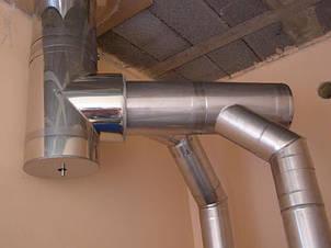 Тройник 45 из нержавеющей стали 1 мм AISI 321, фото 2
