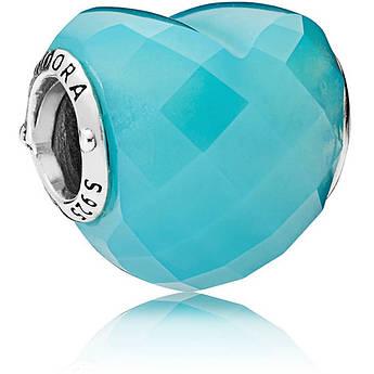 Шарм голубое сердце копия Pandora