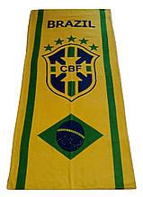 Пляжное полотенце сборной Бразилия с логотипом  любимого футбольного клуба