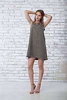 Летнее платье трапеция  Грейс оливковый