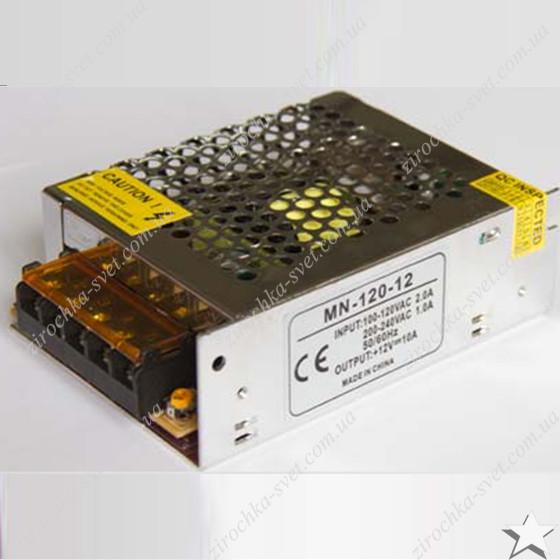 Блок питания для светодиодной ленты 12в 100вт 8,3А IP20 compact негерметичный MOTOKO