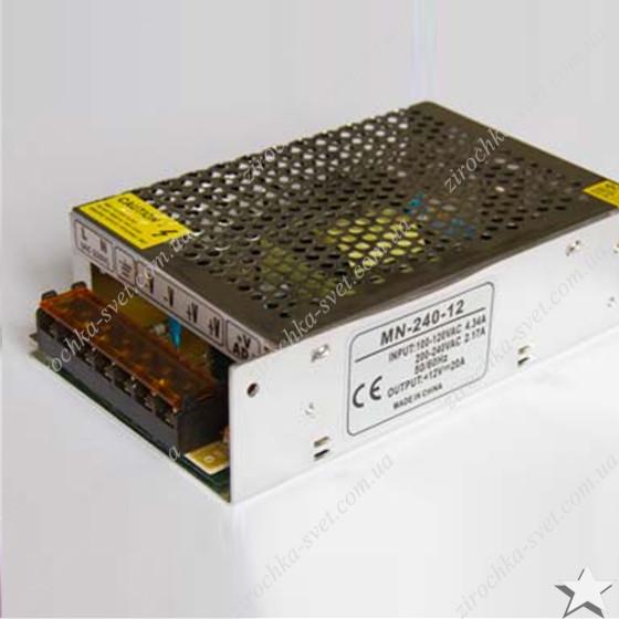 Блок питания для светодиодной ленты 12в 360вт 30А IP20 compact негерметичный MOTOKO