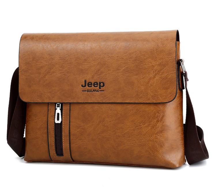 Мужская большая сумка на плечо Jeep LNT Коричневый