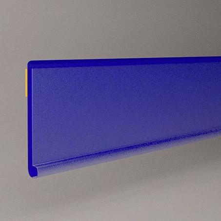 Ценникодержатели стеллажные 1250мм, держатели для ценников на самоклейке DBR 39 синий