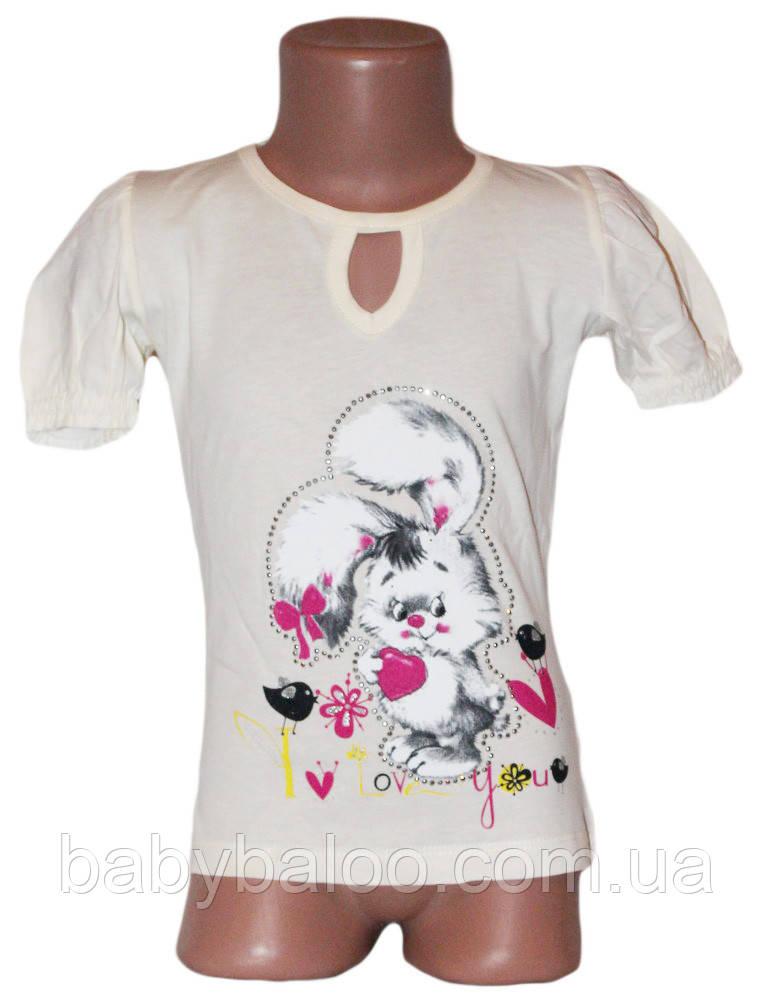 "Классная футболка для подростка слёзка ""Заяц""(от 5 до 8 лет)"