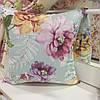 """Декоративная подушка """"Адель"""" цветы фрез большие принт 45х45: съемная наволочка, наполнитель холлофайбер"""