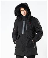 Куртка мужская осень зима бренд Metropolis (Канада) размер 46 черная 03001/011