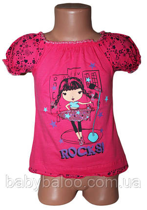"""Классная футболка для детей """"Фонарик цветы"""" (от 4 до 8 лет) , фото 2"""