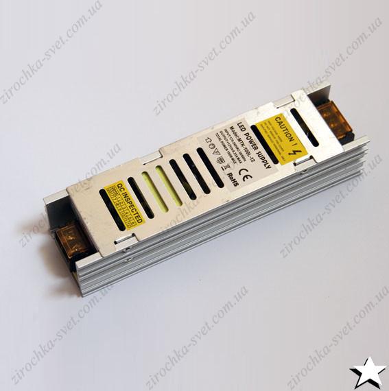 Блок питания для светодиодной ленты 12в 100вт 8,3А IP20 LONG негерметичный MOTOKO