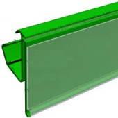 Ценникодержатели стеллажные 1000мм, зеленые, держатели для ценников с зацепами LRY, Модерн Экспо