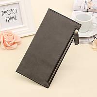 Женский кошелек клатч серого цвета, фото 1