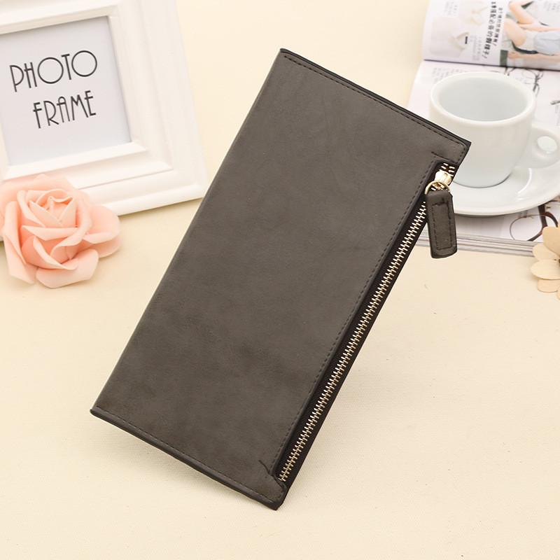 Женский кошелек клатч серого цвета