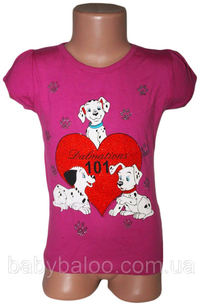 Крутая детская футболка  Heart Dalmatians ( от 3 до 6 лет)