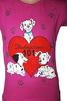 Крутая детская футболка  Heart Dalmatians ( от 3 до 6 лет)  , фото 2