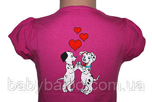 Крутая детская футболка  Heart Dalmatians ( от 3 до 6 лет)  , фото 3