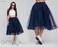 Женская пышная юбка с фатина, 42-48,черный, марсала, темно-синий, нежно-розовый, голубой, мята, шоколад , пудр