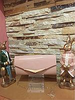 Жіночий лаковий клатч, фото 1