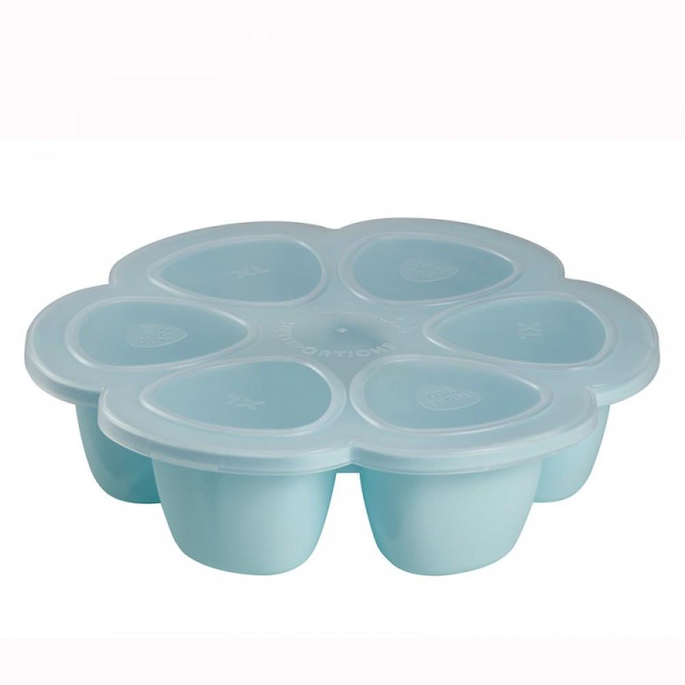 Beaba - Силиконовый многопорционный контейнер 150 ml, blue