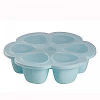 Beaba - Силиконовый многопорционный контейнер 150 ml, blue, фото 1