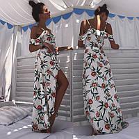 """Женское платье в пол принт цветы """"Dimitra"""""""