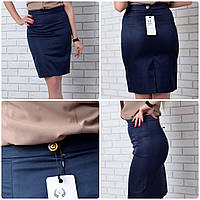 Женская юбка-карандаш, мемори, рр 42-52,красный, электрик, бежевый, синий, чёрный, коралл