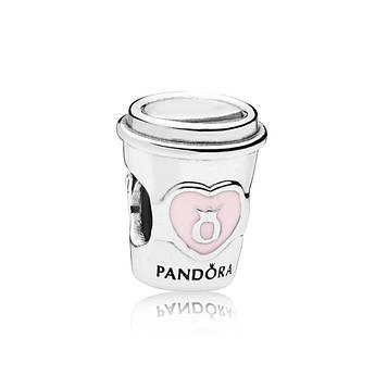 Серебряная шарм «Напиток» копия Pandora
