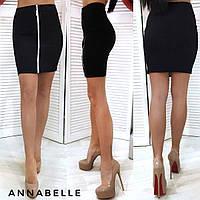 Женская облегающая джинсовая юбка на молнии впереди, 42-44,44-46, джинс, бордо, бутылка, белый, черный