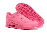 Кроссовки женские Nike Air Max 90 Hyperfuse реплика ААА+ размер 37 розовый