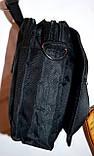 Мужская барсетка текстильная синяя 11*15 см, фото 2
