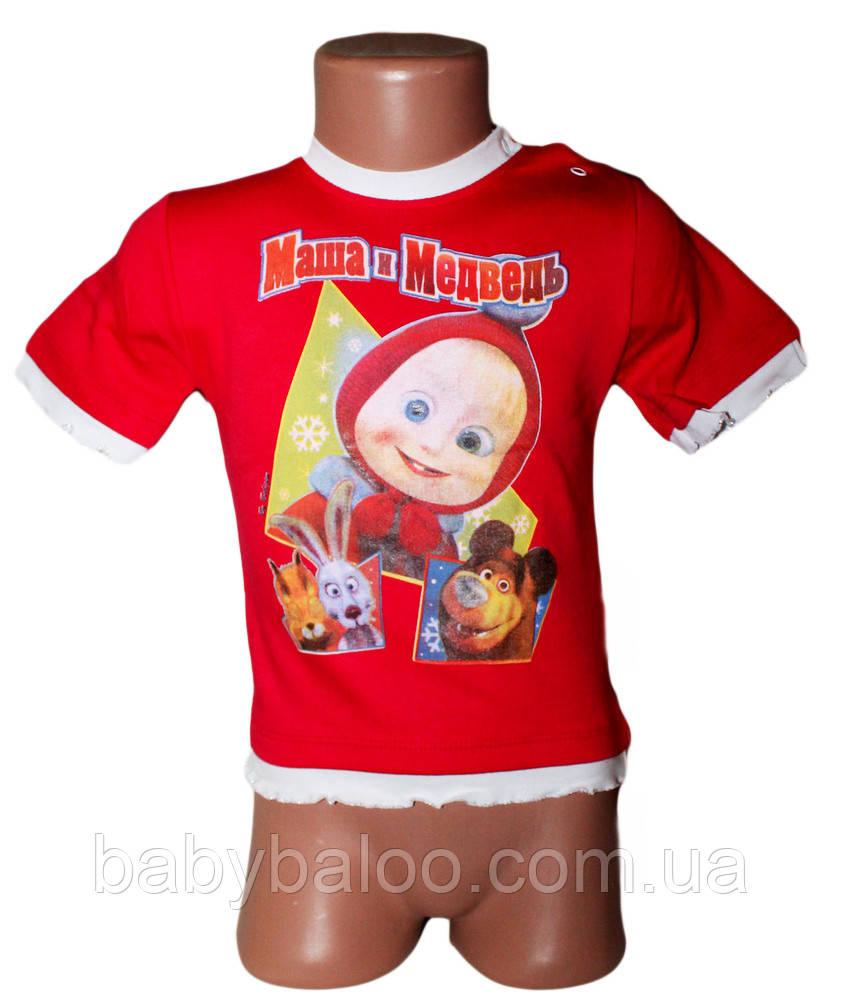 Детская футболка для девочки кнопка (от 1 до 4 лет)