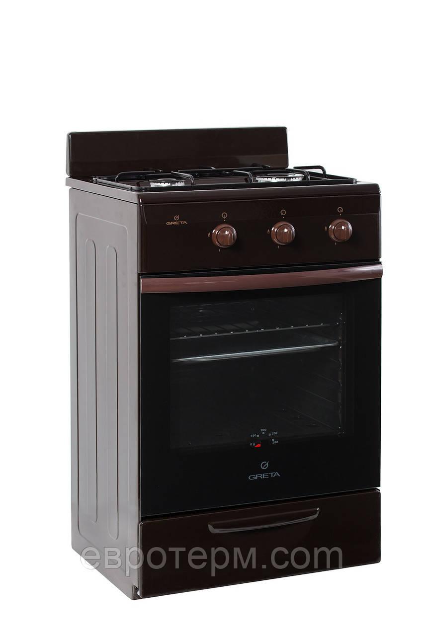 Газовая плита GRETA 1201-00-10 Brown коричневая