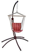 Бразильське підвісне крісло-гамак на металевій стійці