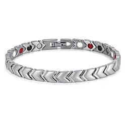 Терапевтичний магнітний браслет жіночий (Візіон) сільвер