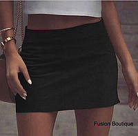 Женская замшевая мини юбка,42-44;44-46, чёрный ,красный,бежевый,электрик, фото 1