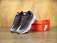 Кроссовки Nike Air Max 95 реплика ААА+ размер 41 черный (живые фото), фото 1