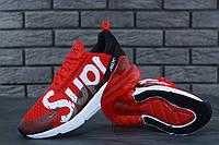 Кроссовки Nike Air Max 270 Supreme реплика ААА+ размер 41-45 красный (живые фото), фото 1