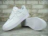 Кроссовки Nike Air Force реплика ААА+ (натуральная кожа) размер 36-45 белый, фото 1