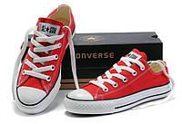 Кеды Converse All Star реплика ААА+ размер 37,39 красный