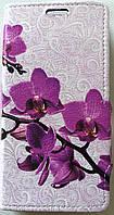 Чехол-книжка Kolor для Bravis A506 Crystal орхидея (1260)