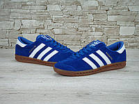 Кроссовки Adidas Hamburg реплика (натуральная замша) р.44 синий, фото 1